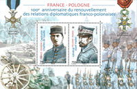 France - France-Poland friendship - Mint souvenir sheet