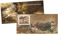 France - Lascaux - Mint souvenir sheet in folder