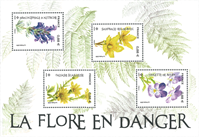 Frankrig - Truede planter - Postfrisk miniark