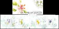 Frankrig - Truede planter - Postfrisk miniark i folder