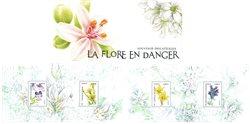 France - Fleurs menacées - Bloc-feuillet neuf en pochette