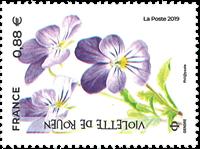 Frankrig - Truede planter - Postfrisk frimærke