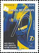 Frankrig - Menneskerettigheder i Europa - Postfrisk frimærke