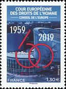 Frankrig - Den Europæiske Menneskerettighedsdomstol - Postfrisk frimærke