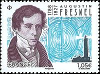 Frankrig - Augustin Fresnel - Postfrisk frimærke
