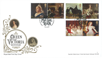 Great Britain - Queen Victoria - First Day Cover with set