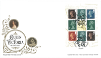 Great Britain - Queen Victoria - First Day Cover with booklet pane