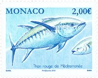 Monaco - Middelhavstunfisken - Postfrisk frimærke