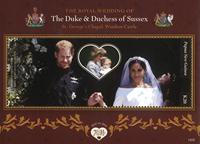 Papouasie Nlle Guinée - Mariage royal Prince Harry  et Meghan - Bloc-feuillet neuf