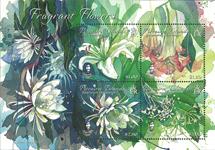 Îles Pitcairn - Fleurs aromatiques - Bloc-feuillet neuf