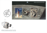Sweden - Moon landing, 50th anniversary - First Day Cover