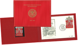 Vatican - Embroidered stamp - In folder - Mint stamp + First Day Cover