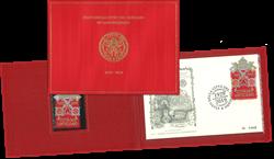 Vatikanet - Broderet frimærke - Postfrisk