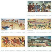 Etats-Unis - Peintures murales dans les bureaux de  poste - Série neuve 5v