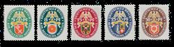 German Empire - 1928  - Michel 430/434, unused