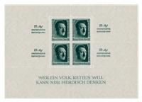 Tyske Rige 1937 - Michel blok 11 - Ubrugt