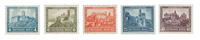 Tyske Rige 1932 - Michel 474-78 - Ubrugt