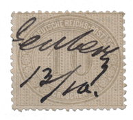 German Empire - 1872  - Michel 12, cancelled with pen cancel