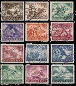 Impero Tedesco - 1943 - Michel 831/842, timbrato