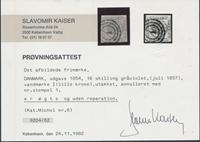 Danmark 1854-57 - AFA 6 - Stemplet - med certifikat