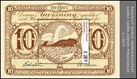 Groenland - Billet de banque 10 couronnes brun - Bloc-feuillet neuf