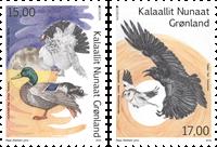 Grønland - Europa Fugle - Postfrisk sæt 2v