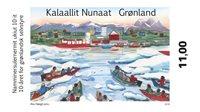 Grønland - 10 år selvstyre - Postfrisk frimærke