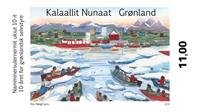 Groenland - 10 ans d'autonomie - Timbre neuf