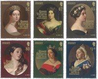 Jersey - Dronning Victoria - Postfrisk sæt 6v