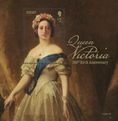 Jersey - Dronning Victoria - Postfrisk miniark