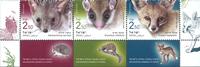 Israel - Truede dyr - Postfrisk sæt 3v