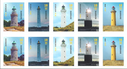 Danemark - Phares - Bande de 10 timbres neufs