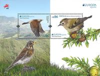 Azorerne - Fugle Europa 2019 - Postfrisk miniark