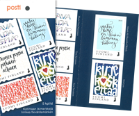 Finland - Kalligrafi - Postfrisk sæt 5v