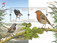 Portugal - Fugle Europa 2019 - Postfrisk miniark