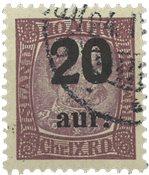 Island 1921-22 - AFA 109 - Stemplet