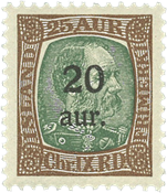 Island 1921-22 - AFA 107 - Postfrisk