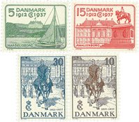 Danmark 1937 - AFA 239-42 - Postfrisk