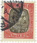 Island 1902 - AFA 21 - Stemplet