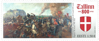 Estland - Dannebrog / Tallinn 800 år - Postfrisk frimærke