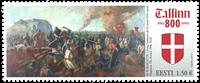 Estonie - Drapeau danois / Tallinn 800 ans - Timbre neuf
