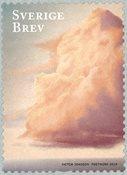 Suède - Invitation - Timbre neuf, nuage