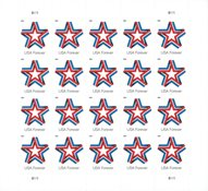USA - Star Ribbon - Postfrisk 10-ark