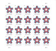 Etats-Unis - Ruban étoile - Feuillet neuf 10v