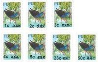 Fiji - Birds, overprint - Mint set 7v