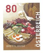 Austria - Food speciality *Brettjause* - Mint stamp from coil