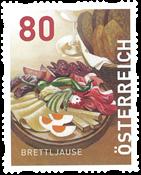 Autriche - Plat typique *Brettjause* - Timbre neuf de rouleau