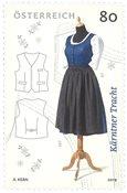 Østrig - Kärntner kjole - Postfrisk frimærke
