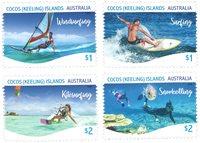 Îles Cocos Keeling - Sports aquatiques - Série neuve 4v