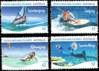 Cocos Keeling - Vandsport - Postfrisk sæt 4v